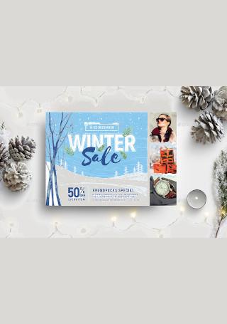 Winter Sale Flyer in Vector EPS