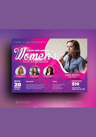 Women Conference Flyer Sample