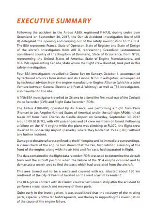 Air Transport Technical Report