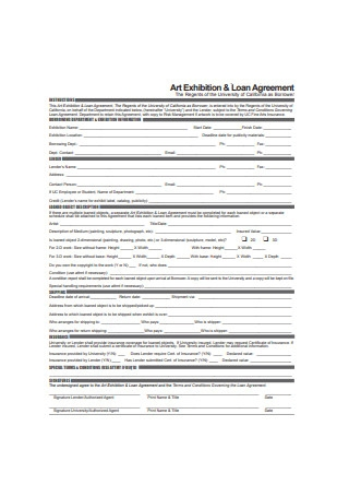 Art Exhibition and Loan Agreement