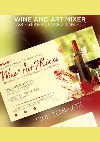 Art Mixer Flyer Postcard