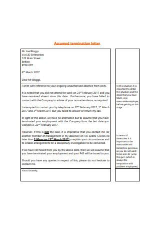 Assumed Termination Letter