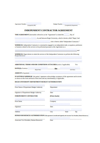 Authorization Independent Contractor Agreement