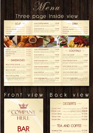 Bar Restaurant Menu