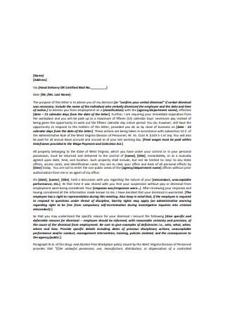 Basic Termination Letter