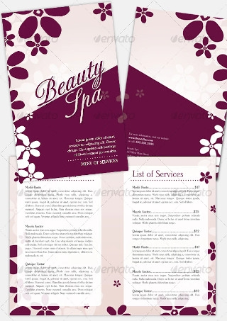 Bi Fold Beauty Brochure