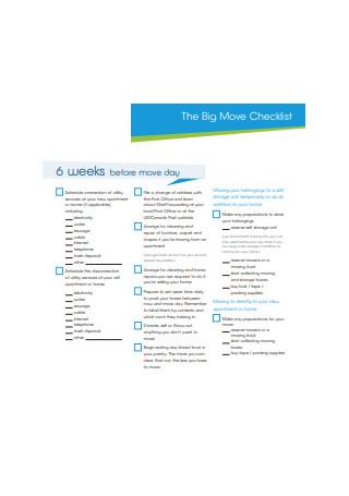 Big Move Checklist