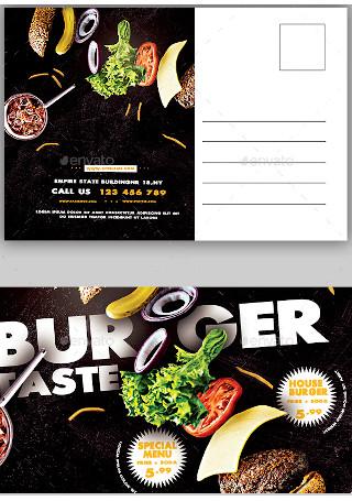 Burger Restaurant Postcard