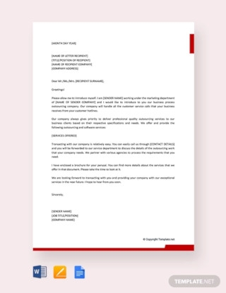 Business Introduction Letter to New Clients