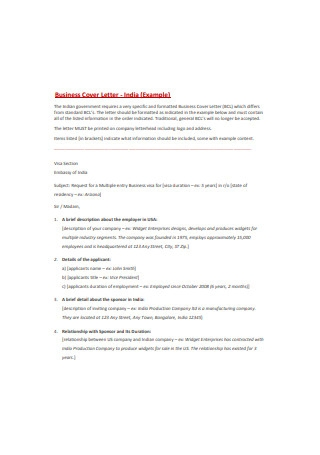 Business Inttroduction Cover Letter