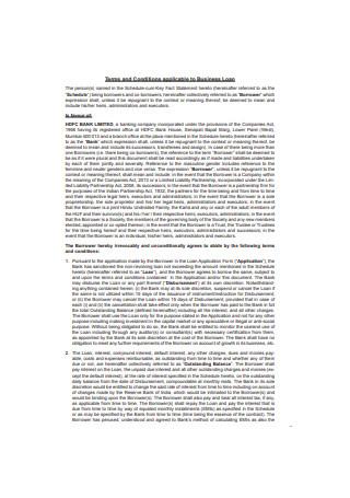 Business Loan Agreement