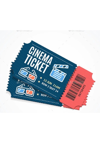 Cinema Movie Ticket InDesign