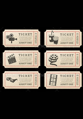 Cinema Tickets Template