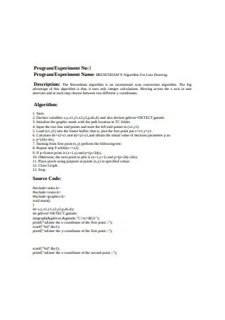 Computer Graphics Laboratory Report Experiment