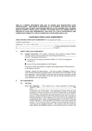 Construction Loan Agreement