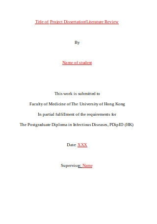 Cover Page for Project Review