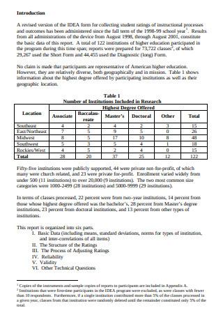Data Technical Report