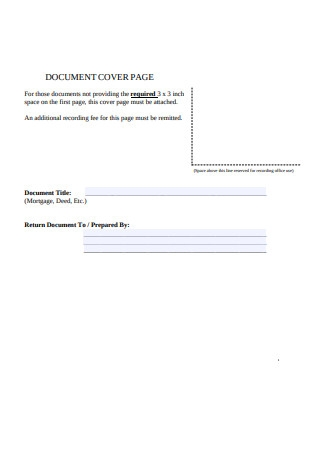 Document Cover Page