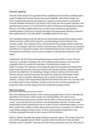 Economics Technical Report