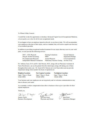 Employee Business Introduction Letter