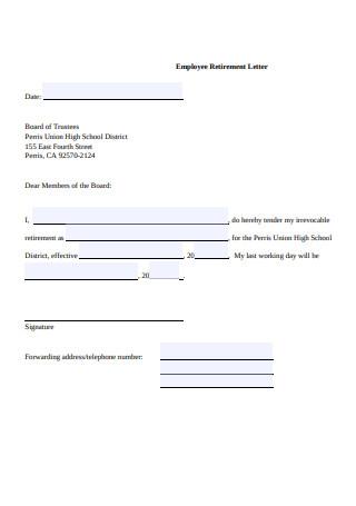 Employee Retirement Letter