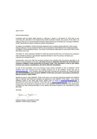 Employee Termination Letter