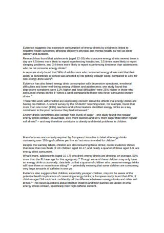 Energy Drinks Sales Proposal