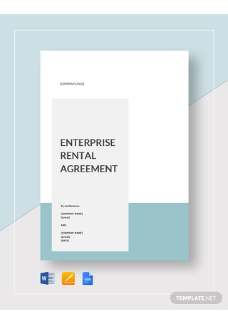 Enterprise Rental Agreement Template