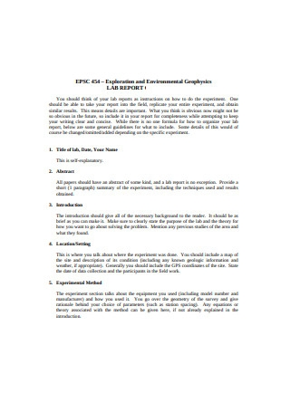 Exploration and Environmental Geophysics Lab Report