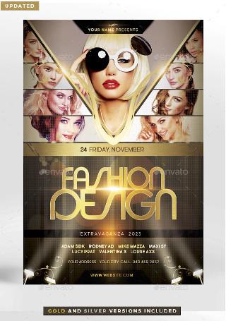 Fashion Design Flyer Template