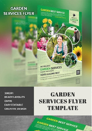 Formal Garden Services Flyer