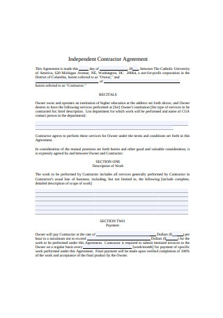 Formal Independent Contractor Agreement