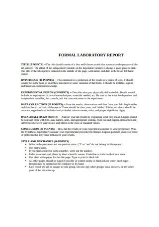Formal Laboratory Test Report