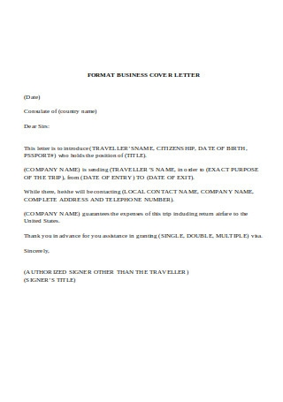 Format Business Cover Letter