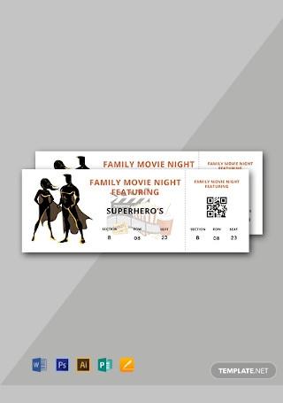 Free Movie Night Ticket Template