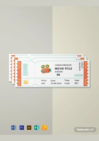 Free Simple Movie Ticket Template