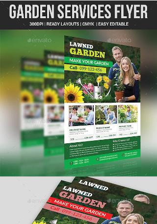 Garden Services Flyer Format