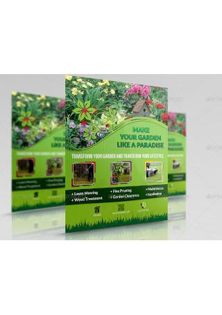 Garden Services Flyer Sample