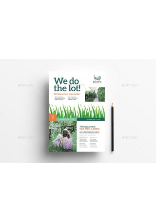 Gardening Poster Advertisement Template