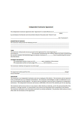 General Independent Contractor Agreement