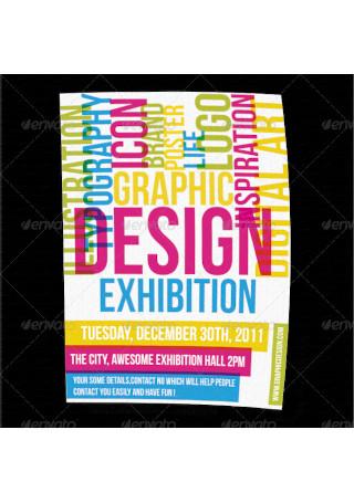 Graphic Design Exhibition Flyer Poster