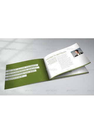 Horizontal Brochure Mock Up
