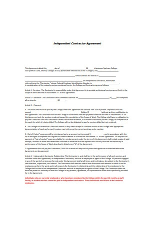 Independent Contractor Agreement in PDF