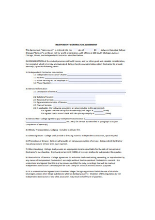 Independent Organization Contractor Agreement