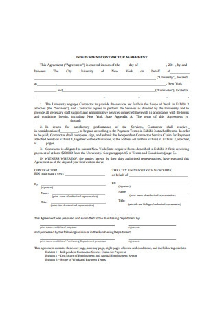 Independent Work Contractor Agreement