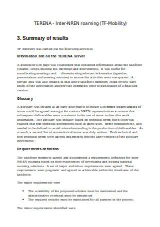Inter Roaming Technical Report