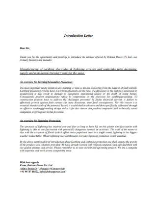 Introduction Letter in PDF