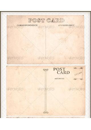 Isolated Vintage Postcard Pack