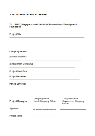 Joint Interim Technical Report