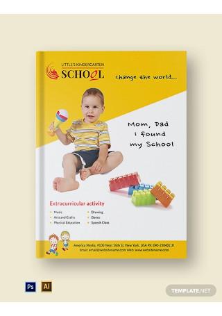 Kindergarten ebook Cover Page Template